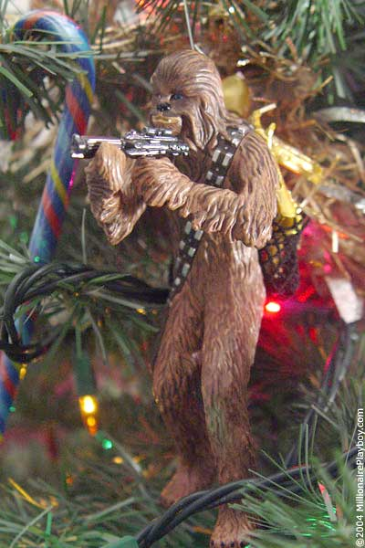 when the movies were finished peter moved to yorkshire where he lived quietly for 14 years as the star wars special edition movies were being released in - Chewbacca Christmas Ornament